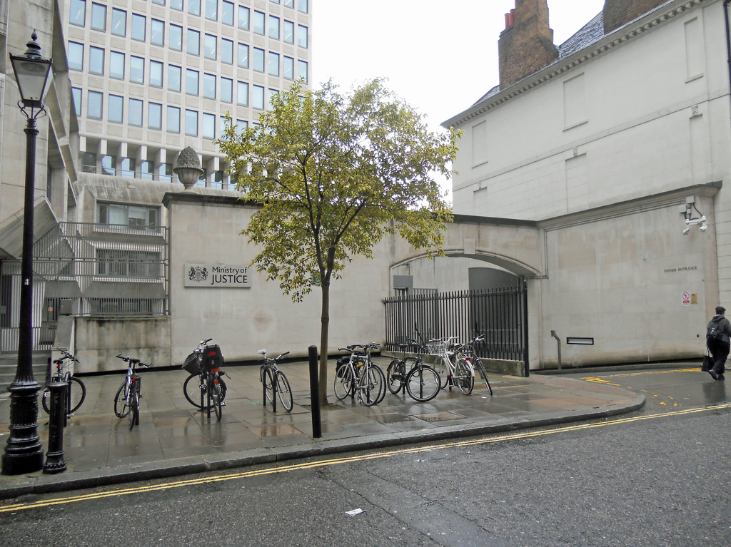 Photograph of a Ministry of Justice building.