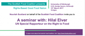 Seminar with UN Special Rapporteur on the Right to Food @ Lecture theatre G.03