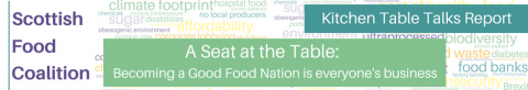 A Seat at the Table: Becoming a Good Food Nation is everyone's business - Kitchen Table Talk Report by the Scottish Food Coalition