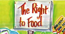 Detail of graphic recording titled The Right to Food Food Policy in Scotland
