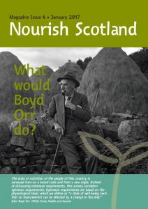 What would Boyd Orr do? cover with picture of him and a quote from Food, Health and Income
